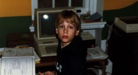 Mark Pilgrim à 10 sur l'Apple ][ de son père