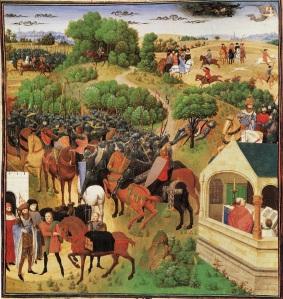 Huit etapes de La Chanson de Roland en une image
