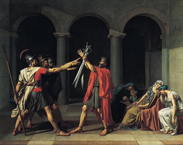 Le Serment des Horaces (Jacques-Louis David, 1785)