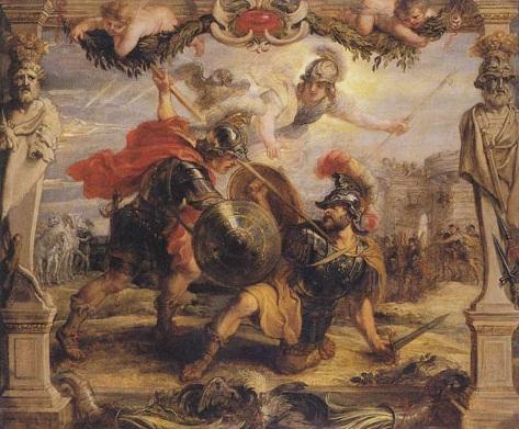 Achille Vainqueur d'Hector (Pierre-Paul Rubens, 1630)
